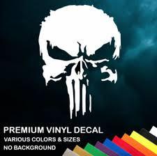 Mopar Punisher Skull White Vinyl Decal Sticker For Sale Online Ebay