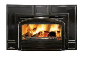 wood burning fireplace insert cast iron