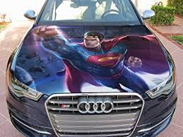 Amazon Com Stikka Vinyl Car Hood Wrap Full Color Graphics Decal Superman Man Of Steel Sticker 2 49 X61 125cm X 155cm Automotive