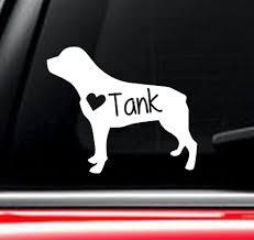 Rottweiler Dog Car Decal With Custom Name Ebay