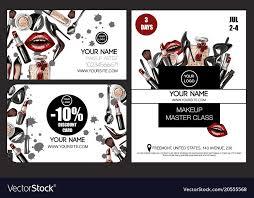 master cl makeup artist vector image