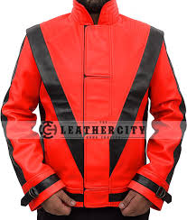 michael jackson thriller red black