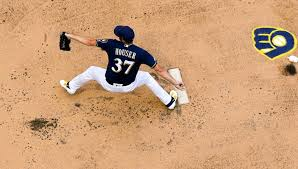 Milwaukee Brewers Adrian Houser throws up behind mound | Fort ...