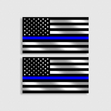 Police Officer Thin Blue Line Flag Decal Law Enforcement Sticker