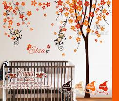 Nursery Wall Decal Orange Cherry Blossom By Cuma Wall Decals On Zibbet