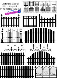 Vector Fence Photoshop Free Brushes 123freebrushes