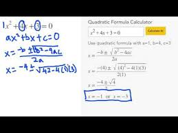 quadratic formula calculator mathpapa