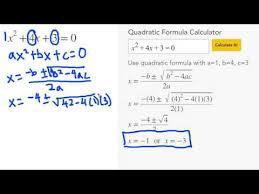 quadratic formula calculator mathpapa