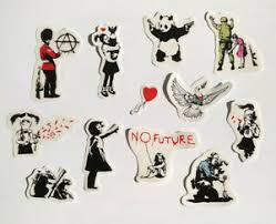 Banksy Sticker Set On Clear Vinyl Decal Pack Car Street Art Graffiti Skate Girl Ebay