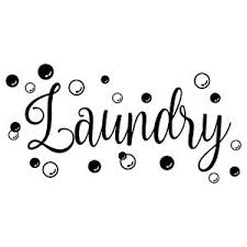 Laundry With Bubbles Vinyl Decal Sticker Laundry Room Sign Soap Washer Dryer Ebay