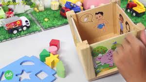 Hộp Xếp Hình Thả Khối Bằng Gỗ - Đồ Chơi Cho Trẻ Em