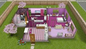 sims freeplay pink themed house sims