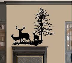Amazon Com Bestpriceddecals Deer Family With Tree Wall Decal Large 22 X 27 Home Kitchen