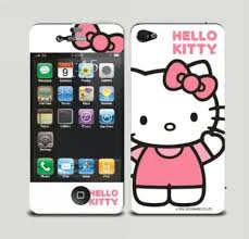Amazon Com Body Decal Cute Hello Kitty Screen Protector Skin Sticker For Apple Iphone 4 4s