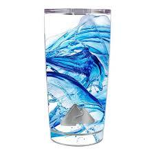 Skin Decal For Ozark Trail 20 Oz Tumbler Cup 5 Piece Kit Water Splash Itsaskin Com