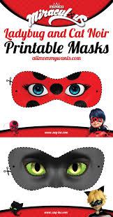 Printables Miraculous Adventures Of Ladybug And Cat Noir Masks