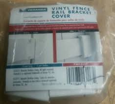 Veranda Vinyl Fence Rail Bracket Cover 73013117 New Bag Of 2 40933131174 Ebay