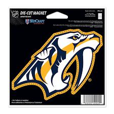 Nashville Predators Wincraft 5 Die Cut Car Magnet