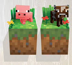 Minecraft Pig Wall Decals Stickers Boys Room