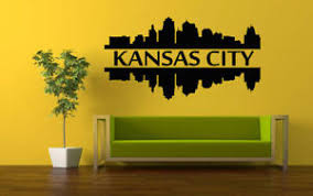 Wall Vinyl Sticker Room Decals Mural Design Kansas City Skyline Building Bo1148 Ebay