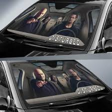 Disturbed Car Auto Sun Shade Rock Band Fan Gift Idea Wear Wanta