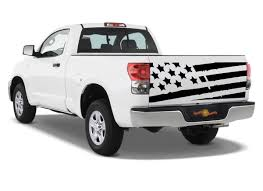 Product Distressed Tattered Tailgate Usa Flag Fit Tundra Die Cut Vinyl Decal Sticker