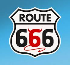Route 66 Devil Road Sign Icon Decal Tenstickers