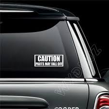 Wxduuz Caution Parts May Fall Off Car Bumper Decal Art Sticker Picture Funny Humour Vinyl Wall Sticker P05 Vinyl Wall Stickers Wall Stickersticker Pictures Aliexpress