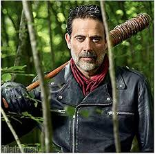 The Walking Dead Jeffrey Dean Morgan as Negan with Lucille resting ...