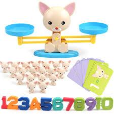 1 Cái Cân Bằng Quy Mô Toán Đồ Chơi Montessori Số Cân Bằng Tàu Con Chó Con Học  Toán Đồ Chơi Cho Bé Mầm Non Đồ Chơi Giáo Dục 