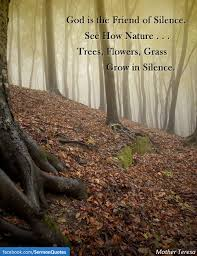 god is the friend of silence see how nature • sermon quotes