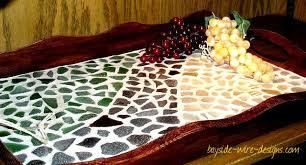 the handmade corner diy beach glass tray