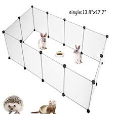 Pinvnby Pet Playpen Portable Resin Pet Yard Fence Puppy Crate Kennel For Dog Cat Kitten Rabbit Ferret Guinea Pig Bunny Hedgehogs Outdoor Indoor 12 Panels 13 8 X 17 7 Inches Buy Products Online
