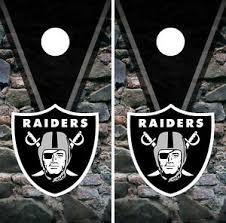 Oakland Raiders Cornhole Wrap Nfl Rocks Game Board Skin Set Vinyl Decal Co103 Ebay