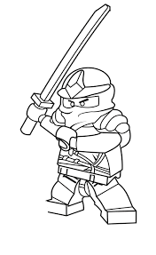 Ninjago Golden Weapons Coloring Pages