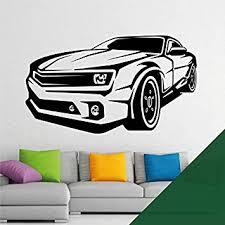 Amazon Com Camaro Sports Car Silhouette Wall Art Decal Sticker Forest Furniture Decor