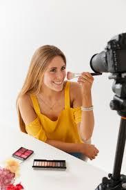 makeup tutorial with beautiful woman