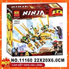 🔥HOT🔥 [ ĐỒ CHƠI LEGO GIÁ RẺ ] Đồ chơi xếp hình lego 💎 Lắp ghép Lego  Ninjago Rồng Vàng Huyền Thoại 11160 ảnh thật *