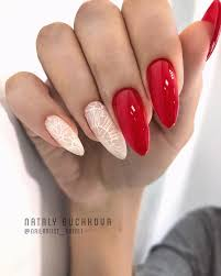 69 trendy red acrylic nail designs