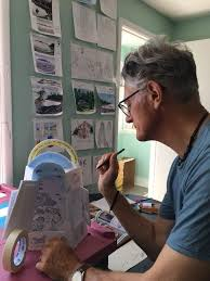 Adrian Brooks our Artist in Residence... - Canadian Lighthouses of Lake  Superior Inc. | Facebook