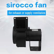 sirocco industrial blower fan