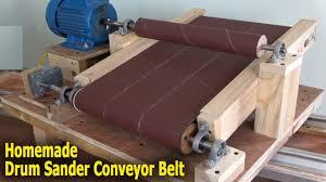 thickness drum sander conveyor belt