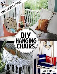 you can make a hanging chair diy