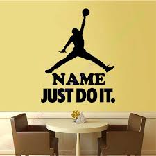 Sport Basketball Custom Name Boy Room Decor Vinyl Wall Sticker Home Decoration Kids Wall Decal Wall Mural Wall Art Wall Art Vinyl Wall Stickerskids Wall Decals Aliexpress