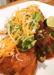 traditional homemade chile rellenos