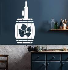 Vinyl Wall Decal Wine Quote Bottle Alcohol Bar Restaurant Decor Stickers Ig4499