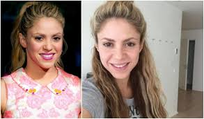 celebrities with and without make up