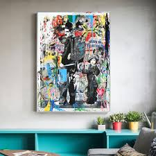 2020 Banksy Graffiti Paintings Pop Art For Kids Room Home Decor Handpainted Hd Print Oil Painting On Canvas Wall Art Canvas Pictures 200120 From Zhfart 22 62 Dhgate Com