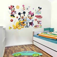 Cartoon Mickey Minnie Mouse Pluto Party Wall Decals Kids Rooms Home Decor Disney Wall Stickers Diy Posters Pvc Mural Art Wall Stickers Aliexpress
