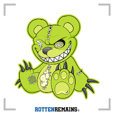 Zombie Teddy Bear Decal Green Dead Cute Zombies Vinyl Sticker Lh Rotten Remains High Quality Stickers Decals
